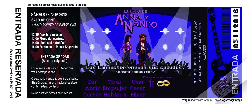 Retro gamer heavy metal-invitacion-boda-wow-anverso